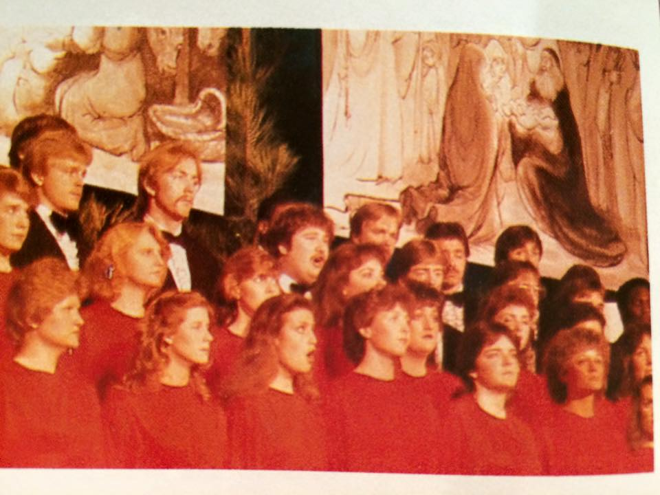 The choir. This would have been my junior year. I'm in the picture. I'm not saying where.